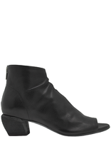 Officine Creative OfficineCreative Black Open Toe Bootie With Back Zipper Fia