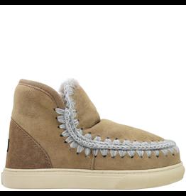 Mou Mou Taupe Suede With Shearling Eskimo Sneaker Eskimo