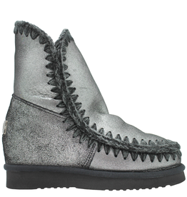 Mou Mou Metal Foil Wedge With Shearling Lining Qanik