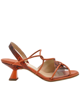 Ixos Ixos Sunset Strappy Sling Sandal With Python 5513