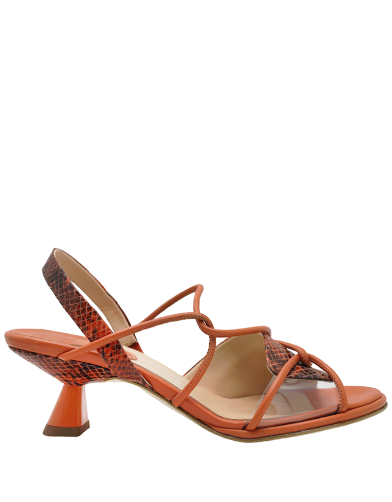 Ixos Ixos Sunset Strappy Sling Sandal With Python 5513
