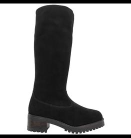 PalmrothOriginal PalmrothOriginal Black Suede Waterproof Shearling Lined Knee Boot 8411