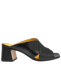 MaraBini MaraBini Black Criss Cross Open Toe Mule 7421