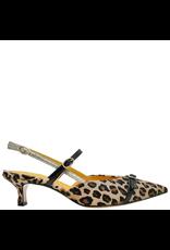 MaraBini MaraBini Cheetah Hair-Calf Sling Back Pump 7419