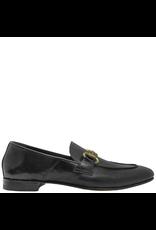 MaraBini MaraBini Black Nappa Loafer With Gold Bit 7424