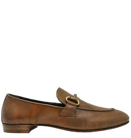 MaraBini MaraBini Camel Flex-Sole Nappa Loafer With Gold Bit 7424