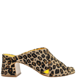 MaraBini MaraBini Cheetah Criss Cross Open Toe Mule 7422