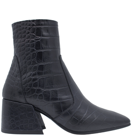 Elena Iachi ElenaIachi Notte Croco Square Toe Ankle Boot With Side Zipper 1945