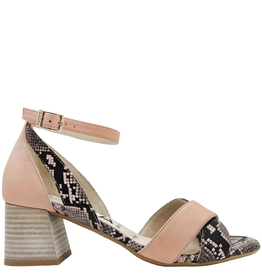 Gadea Gadea Pink With Snake Criss Cross Sandal 1059