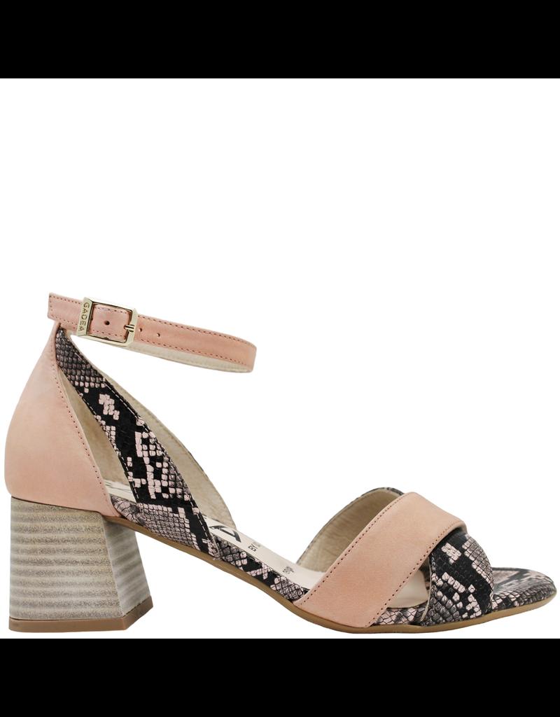 Gadea Gadea Pink With Snake Criss Cross Sandal 1059