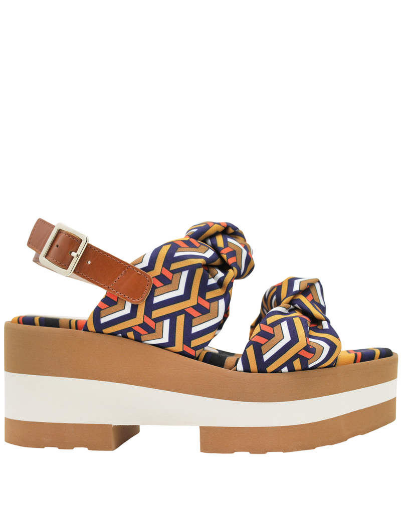 Gadea Gadea Multi Geometric Knotted Wedge Sandal 1080