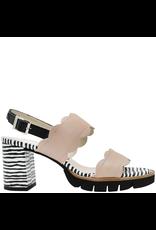 Gadea Gadea Pebble Sling Back Sandal With Zebra Print Heel 1115