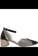 Gadea Gadea Black With Print Closed Toe Pointed Sandal 1152