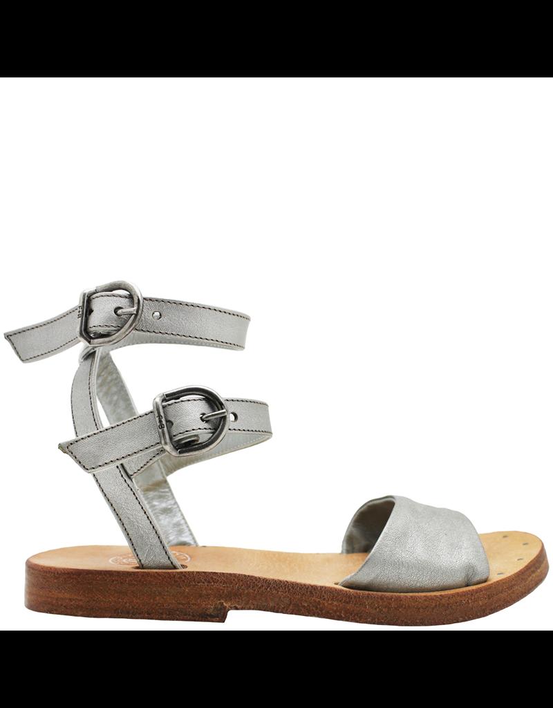 Fiorentini+Baker Fiorentini+Baker Silver Double Buckle Sandal Zat