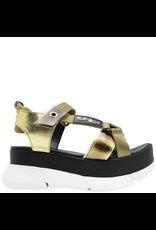 Elena Iachi ElenaIachi Gold Sneaker Bottom Sandal with Velcro Closure 2446