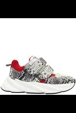 Elena Iachi ElenaIachi Red And Python Sneaker With Velcro Straps 2448