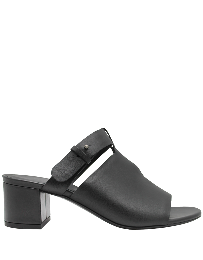 Del Carlo DelCarlo Black Mule With Covered Heel 1098
