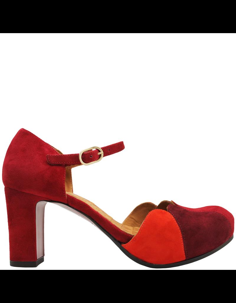 ChieMihara ChieMihara Red Nappa RedSuede Buckled Dress Shoe Icaro