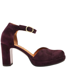 ChieMihara ChieMihara Grape Suede Buckled Two Piece Shoe JoMaho