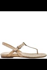 Del Carlo DelCarlo Tan Fish Skin Embossed Thong Sandal 7052