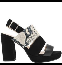 Gadea Gadea Black Multi Texture Sling Back Platform Sandal 5140
