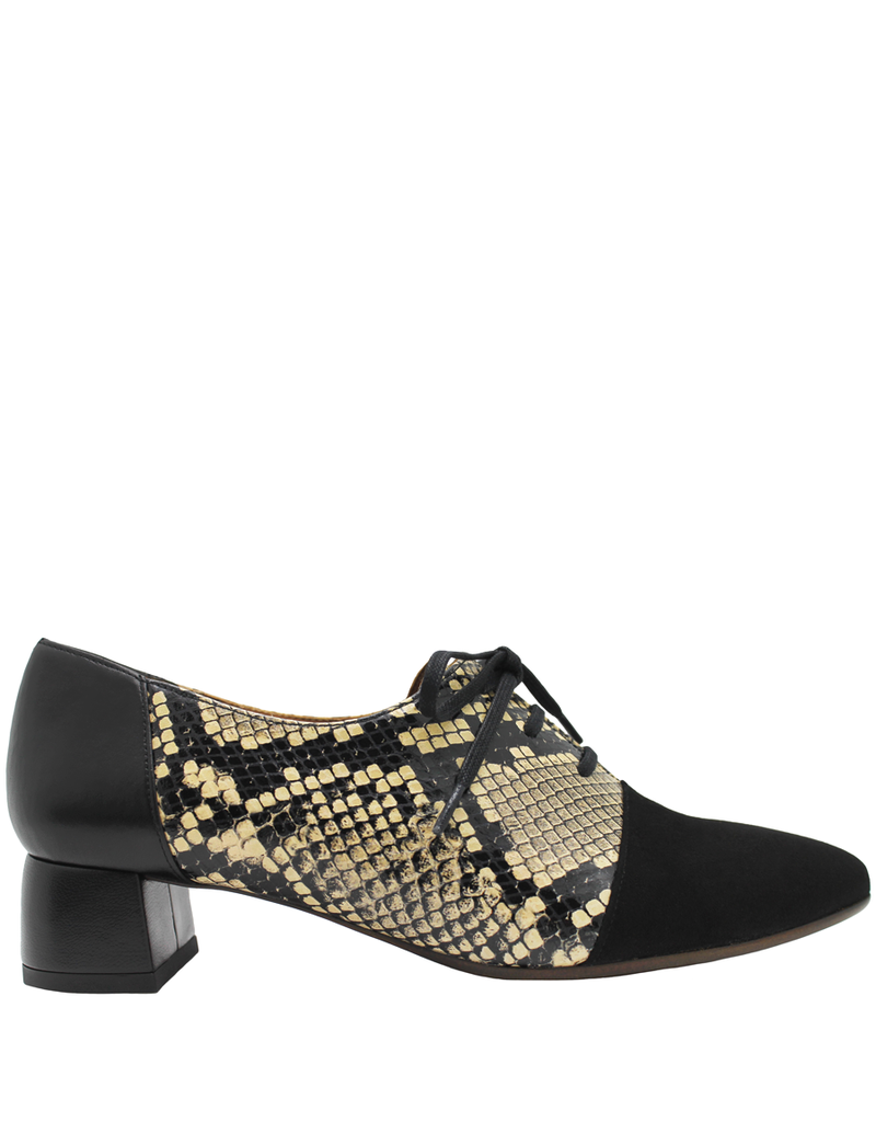 ChieMihara ChieMihara Black Calf/Python Lace-Up Shoe Roly