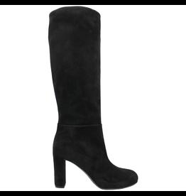 Del Carlo DelCarlo Black Suede High Heel Knee Boot 6300