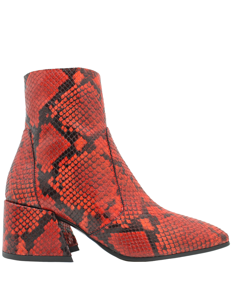 Elena Iachi ElenaIachi Red Snake Mid-Calf Square Toe Boot 1945
