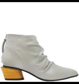 Halmanera Halmanera Khaki Point Toe Ankle Boot With Back Zipper 2027
