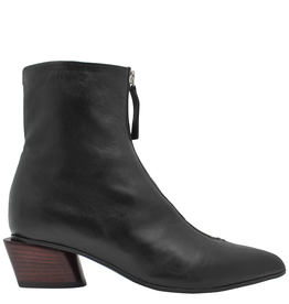 Halmanera Halmanera Black Point Toe Boot With Front Zipper 2028