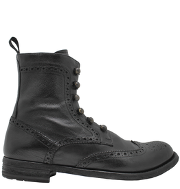 Officine Creative OfficineCreative Black Ankle Boot / Toggle And Side Zipper Lexicon