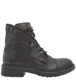 Now Now Brown  Pull On Boot Zipper Trim With Medallion Detail 6468