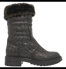 Strategia Strategia Brown Gator Fur Lined Pull-On Tread Sole 4195