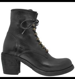 Officine Creative OfficineCreative Black Lace-Up Ankle Boot W/Zipper Agnes