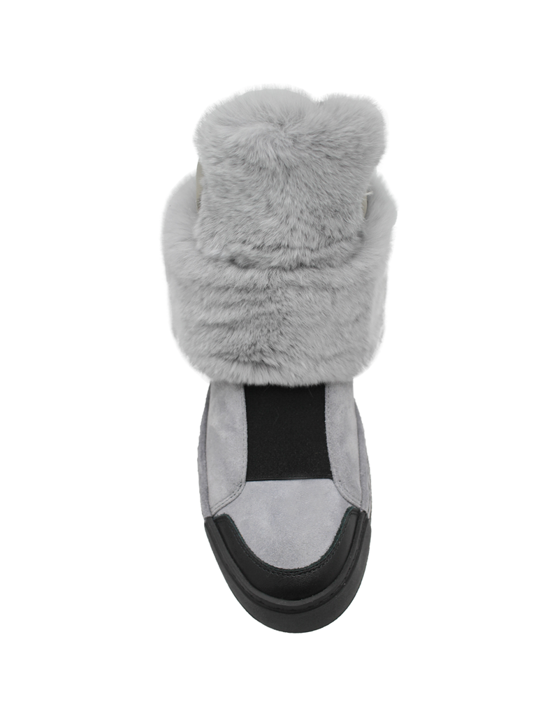 VicMatie VicMatie Grey Suede With Fur and Shearling Lined Sneaker 7772