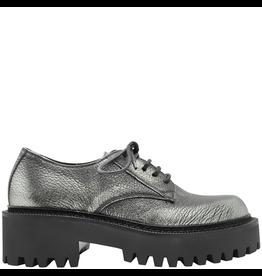 VicMatie VicMatie Silver Grain Leather Derby With Rubber Tread 5150