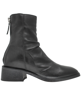 Moma Moma Black  Back Zipper Ankle  Boot With Square Toe 9610