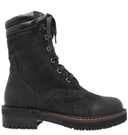 Everybody Black Mid-Calf Boot With Laces 9547