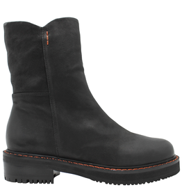 Everybody Black Side Zipper Mid-Calf Boot 9715