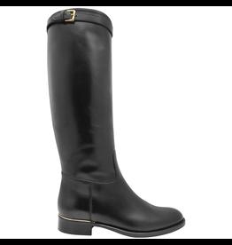 Eclat Eclat Black Calf Riding Boot With Buckle Detail+Side Zipper 1000