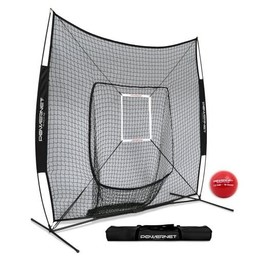 PowerNet DLX Baseball Net 7x7 - TEAM BLACK