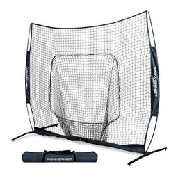 PowerNet 7X7 PRO Baseball - Single Piece Frame Hitting Net - NAVY