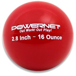 "PowerNet 2.8"" Weighted Training Ball (6 pack) (16 Oz - Red)"