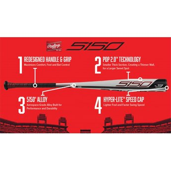 2019 Rawlings 5150 BBCOR Bat (-3) - BB953