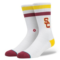Stance College USC Fight On Crew Socks