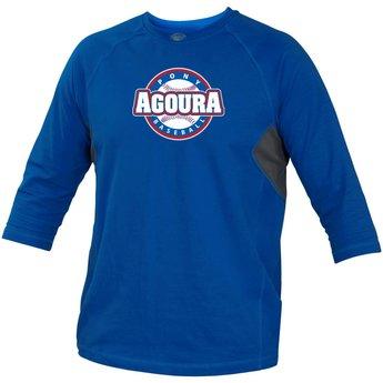 Agoura Pony Rawlings Adult Royal 3/4 Performance Shirt - RS34