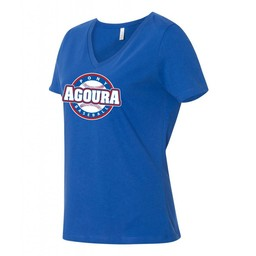 Agoura Pony Bella + Canvas - Women's Relaxed V-Neck Short Sleeve Tee - 6400