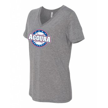 Agoura Pony Bella + Canvas - Women's Relaxed V-Neck Short Sleeve Tee - 6400