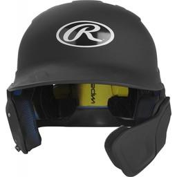 Rawlings Mach Senior One-Tone Matte Helmet w/R Flap -MACHEXTRSR (RHB)