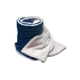 LHS Baseball Alpine Fleece Navy Micro Mink Sherpa Blanket - 8712